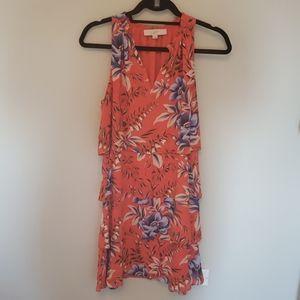 Loft dress with flower pattern